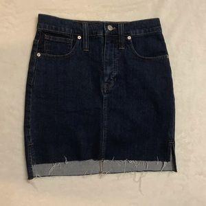 jean skirt distressed bottom size 24